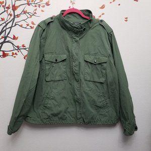 TORRID Military Green Zip Up Jacket Size 4 Plus